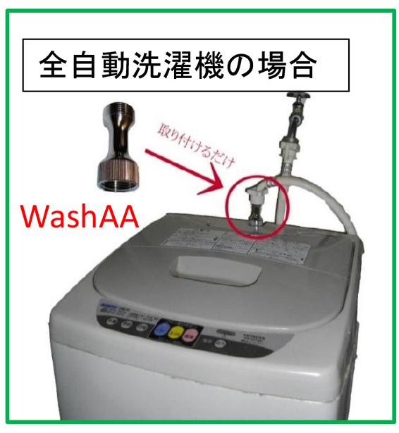 全自動洗濯機の場合